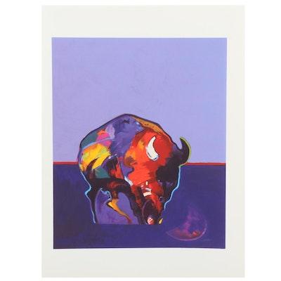"John Nieto Serigraph ""Buffalo Medicine,"" 1996"