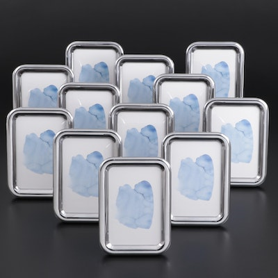 "Georg Jensen ""Tableau"" Aluminum Tabletop Picture Frames"