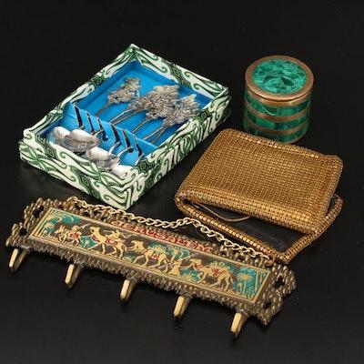 Arjuna Wayang Metal Coffee Spoons with Evans Wallet, Malachite Jar, and More