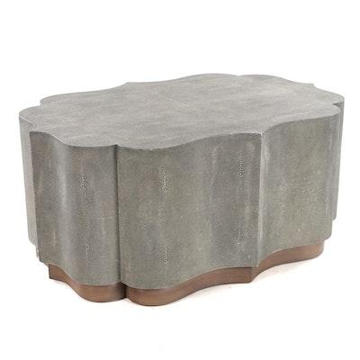 Contemporary Cartouche-Form Coffee Table