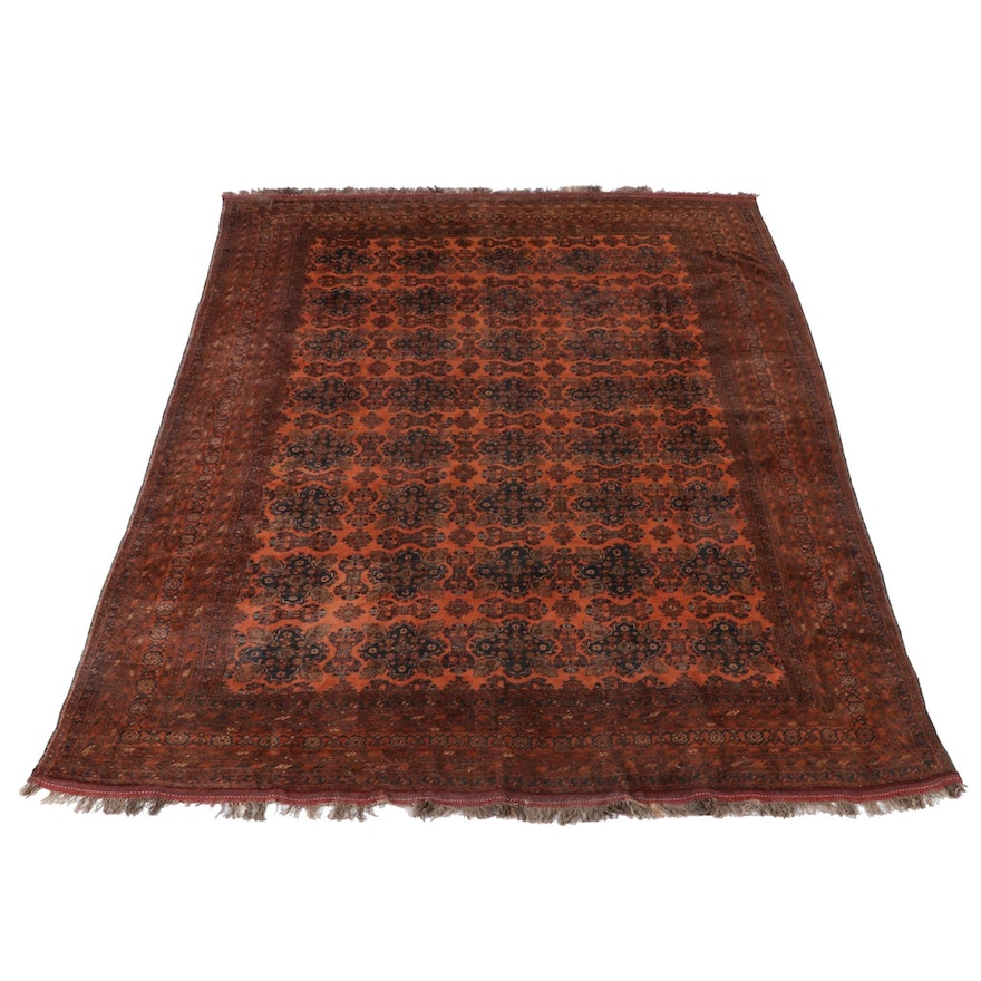 10'0 x 13'0 Hand-Knotted Afghan Bokhara Room Sized Wool Rug