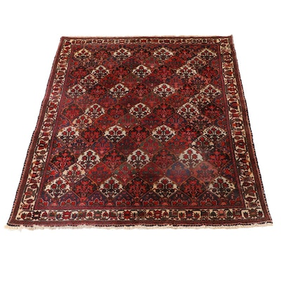 7'2 x 9'11 Hand-Knotted Persian Bakhtiari Vase Carpet Area Rug