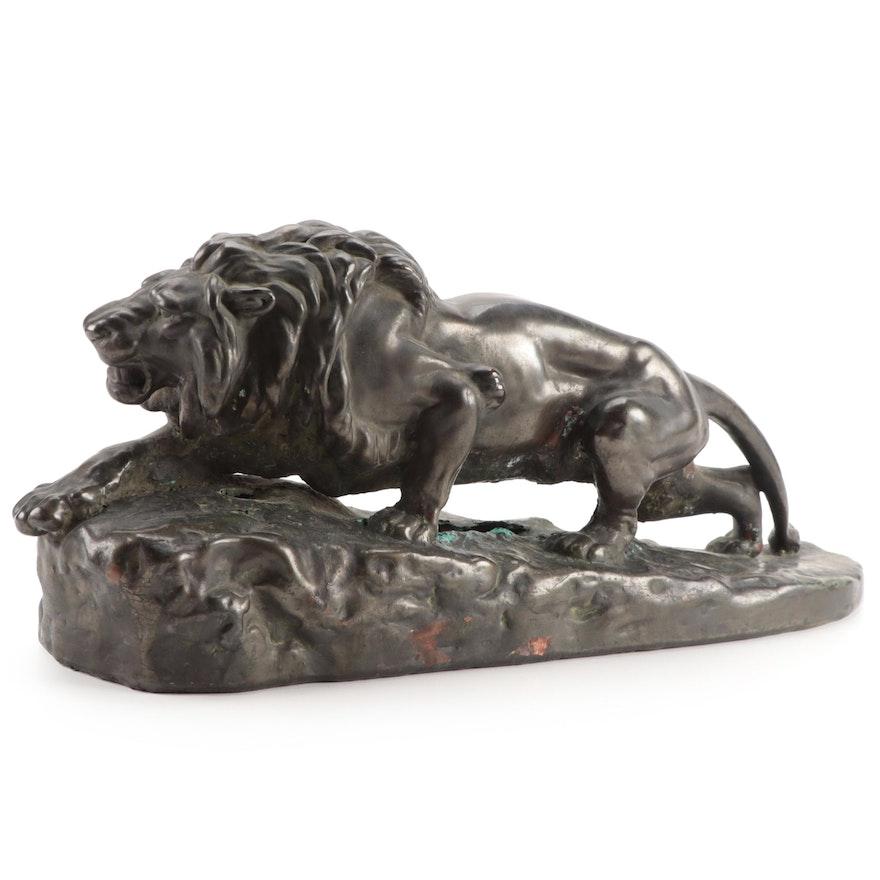 Animalier Cast Metal Sculpture after Isidore Jules Bonheur, 20th Century