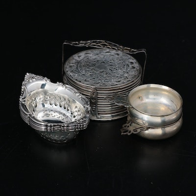 Gorham, Lunt and Other Sterling Silver Coasters, Porringers and More