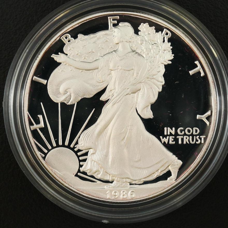 1986-S American Silver Eagle Proof Bullion Coin
