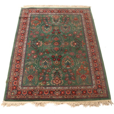 5'7 x 7'11 Machine Made Persian Sarouk Style Area Rug