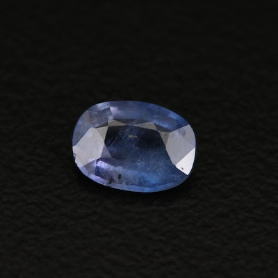 Loose 0.85 CT Unheated Kashmir Sapphire with GIA Report
