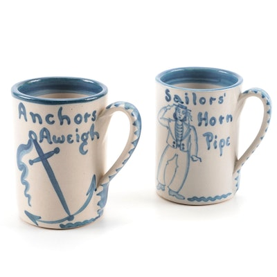 Dorchester Pottery Works Knesseth Denisons Stoneware Mugs
