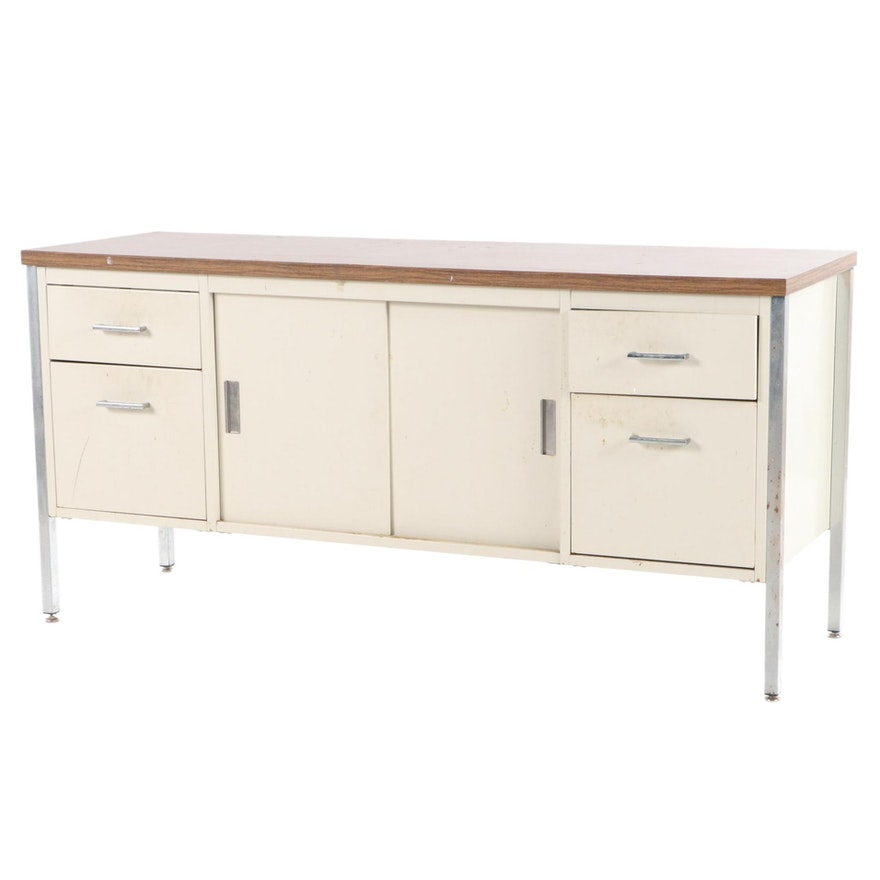 Steel and Laminate Top Office Credenza, Late 20th Century