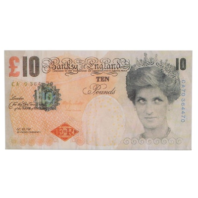 "Giclée after Banksy ""Di-Faced Tenner,"" 21st Century"
