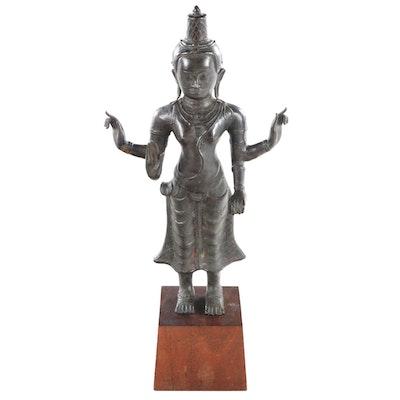 Bronze Sculpture of Vasudhara, 20th Century