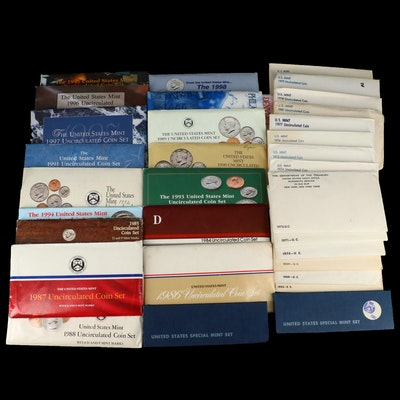 Thirty-Two Different U.S. Mint Uncirculated Sets, 1965–1999