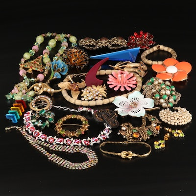 Vintage Costume Jewelry Featuring Crown Trifari