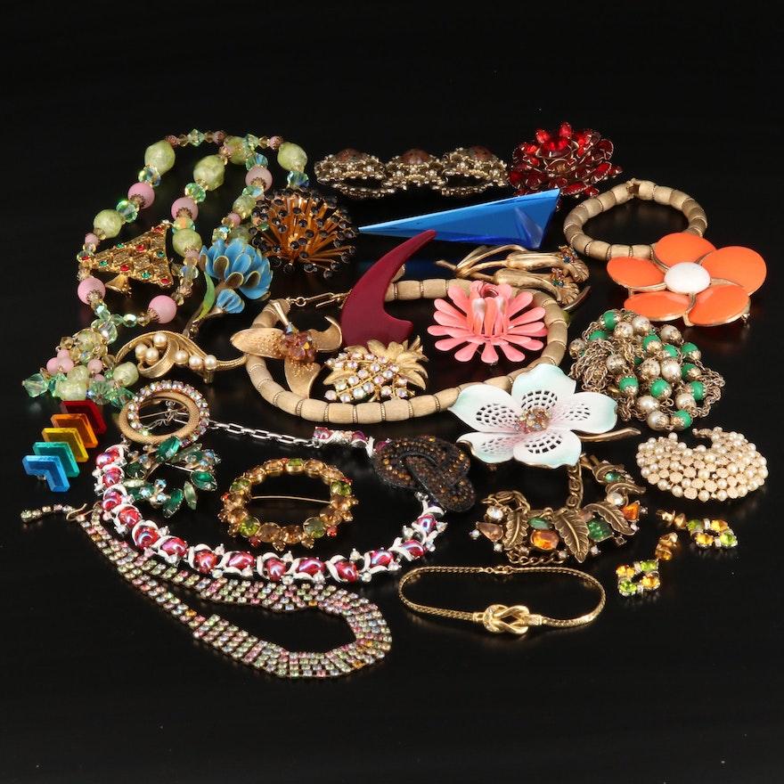 Vintage Costume Jewelry Featuring Crown Trifari
