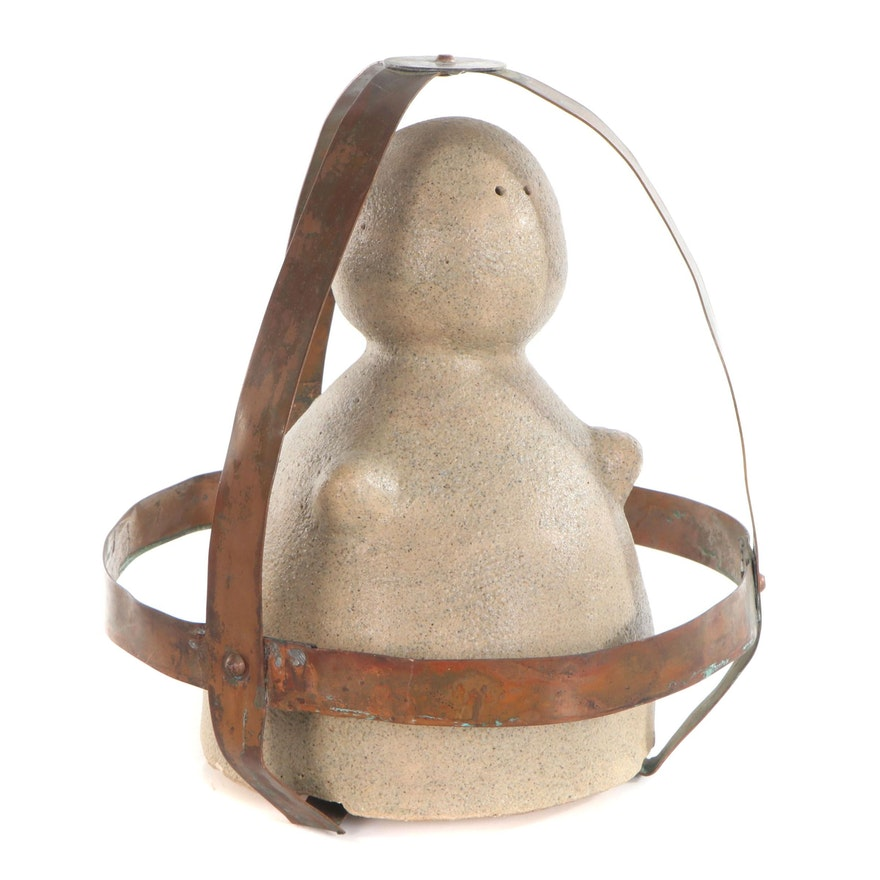 "Modernist Mixed Media Sculpture ""Urfrau,"" 1962"