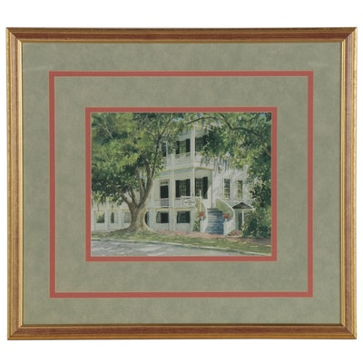 "Barbara Shipman Offset Lithograph ""Rhett House Inn"""