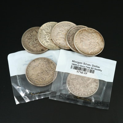 Seven Morgan Silver Dollars