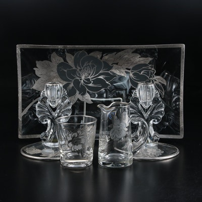 Rockwell Glass with Sterling Overlay Serveware and Table Accessories