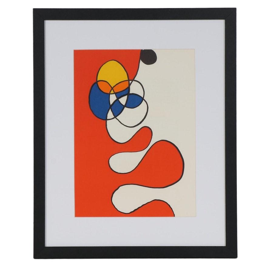 """Alexander Calder Color Lithograph for """"Derrière le Miroir,"""" 1968"""