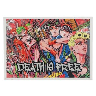 "Death NYC Pop Art Graphic Print ""Death is Free,"" 2020"