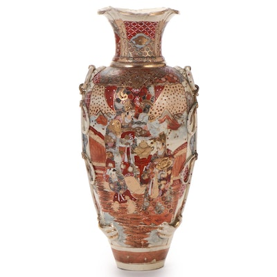 Japanese Satsuma Baluster Vase, Early to Mid 20th Century