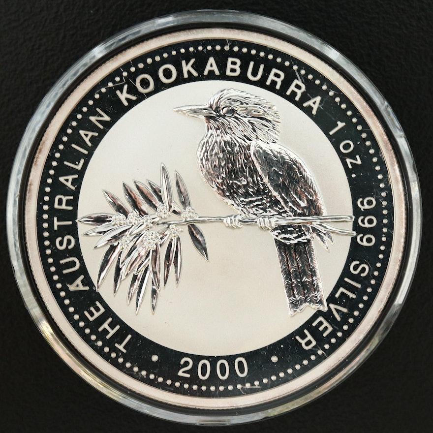 2000 Australia $1 Silver Kookaburra Bullion Coin