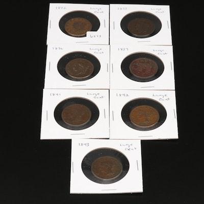 Seven U.S. Large Cents