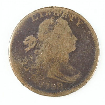 1798, 8 Over 7 Draped Bust Large Cent
