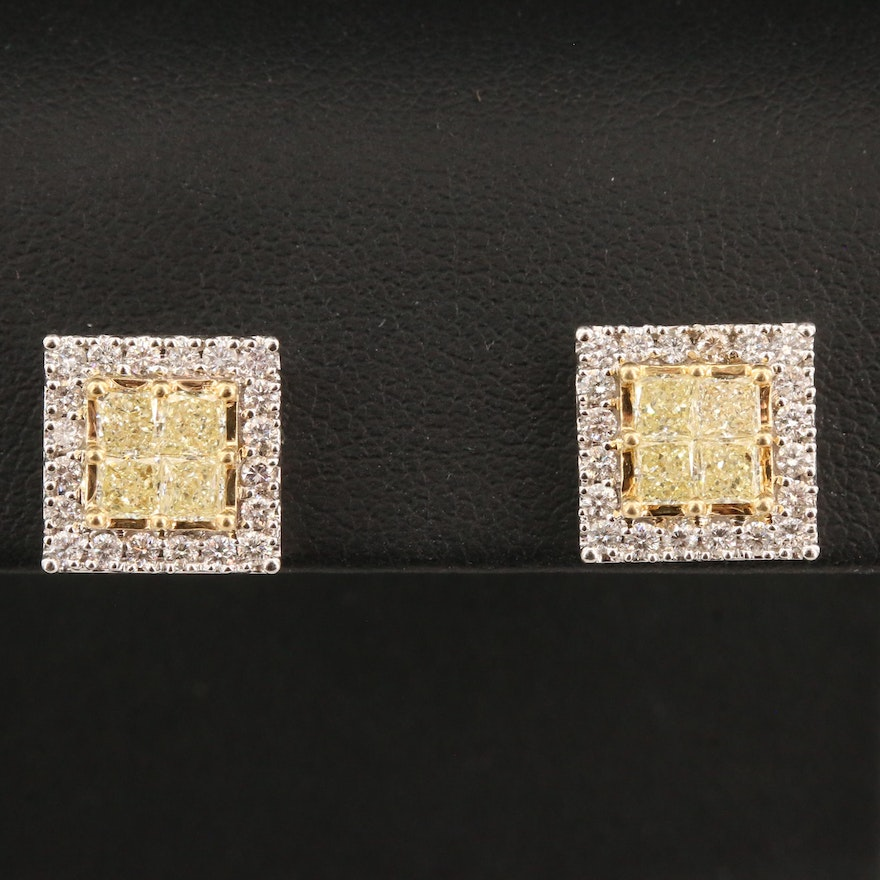 14K 2.04 CTW Diamond Earrings