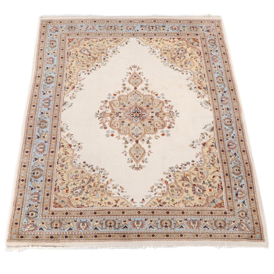 7'10 x 10'3 Hand-Knotted Persian Mashhad Wool Area Rug