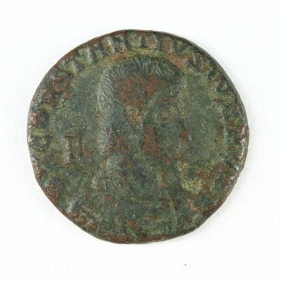 Ancient Roman Imperial AE Centenionalis Coin of Constantius Gallus, ca. 351 A.D.