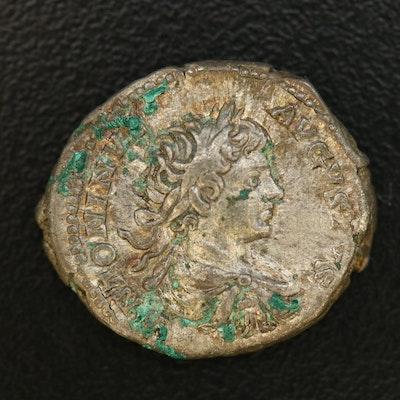 Ancient Roman Imperial AR Denarius of Caracalla, ca. 198 A.D.