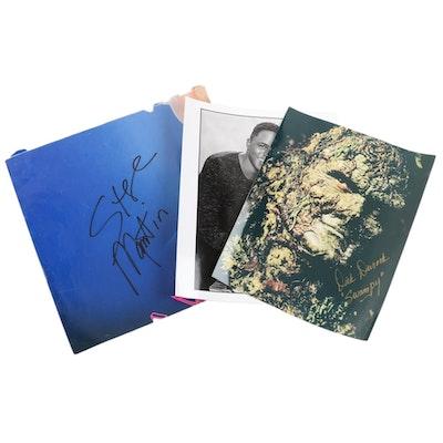 Signed Dick Durock, Steve Martin, and Wayne Brady Photographs