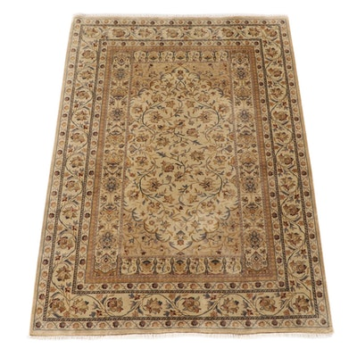 6'0 x 9'0 Hand-Knotted Indian Mahal Wool Area Rug