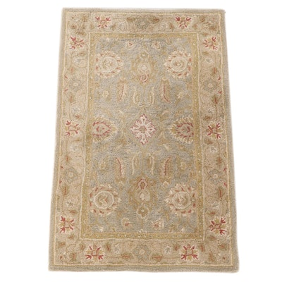 "3'0 x 5'1 Hand-Tufted Pottery Barn Indian ""Nisha"" Wool Area Rug"