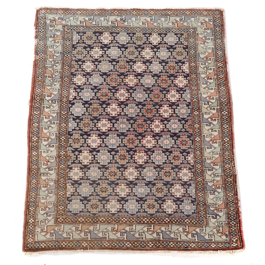 3'9 x 5'5 Hand-Knotted Caucasian Shirvan Wool Area Rug