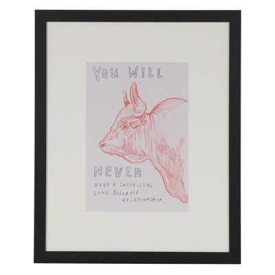 "Dave Eggers Offset Lithograph for ""It Is Right to Draw Their Fur,"" 21st Century"