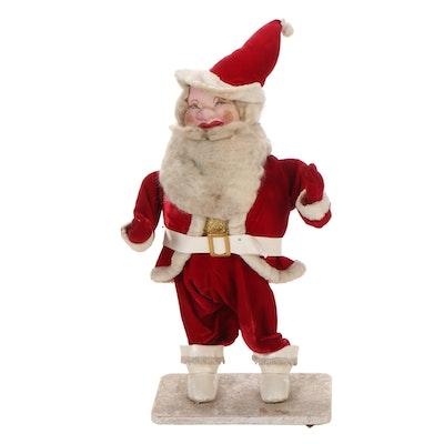Animated Santa Clause Statuette, Mid-20th Century