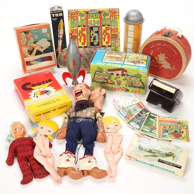 """""""Howdy Doody"""" Marionette, Toy Piano, View-Master Slides, and Other Toys"""