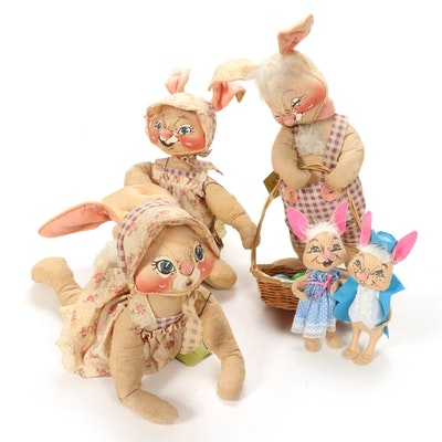 Annalee Large Scale Easter Bunny Dolls, 1968