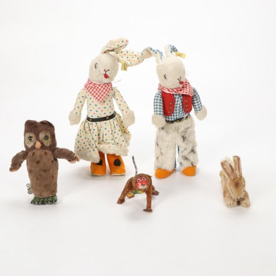 Marx, Steiff, and Other Plush Animals, Mid to Late 20th Century