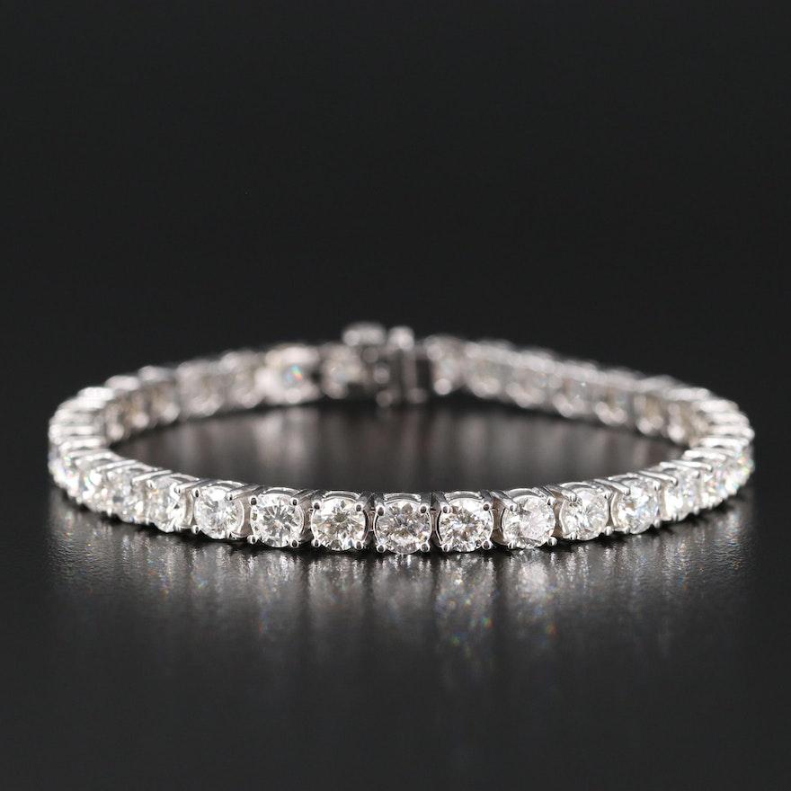 14K 11.08 CTW Diamond Line Bracelet