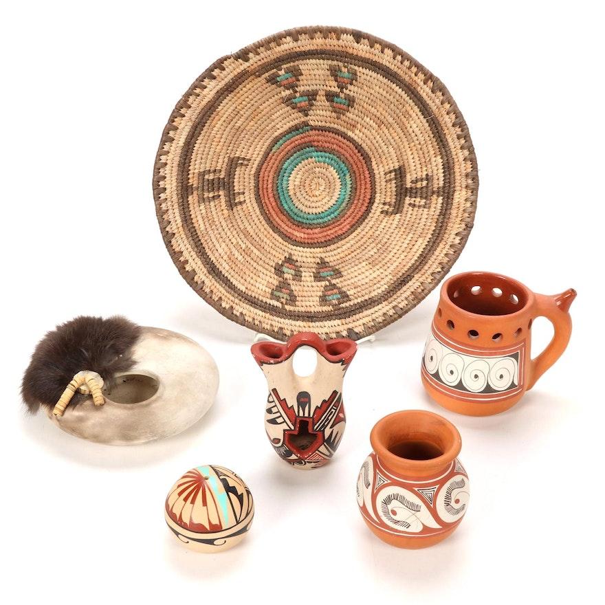 Jemez Pueblo Wedding Vase and Other Southwestern Style Pottery and Decor