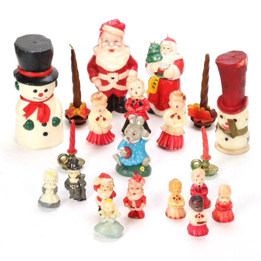 "Gurley Novelty Holiday Candles and ""Peel-Away"" Wax Coated Chocolates, 1950s"