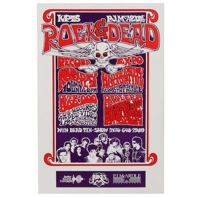 Grateful Dead Commemorative Pittsburgh Rock & Dead Record Expo Poster