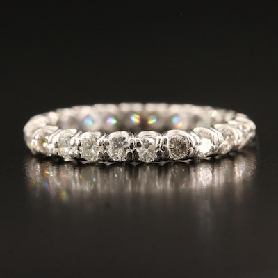 Platinum 1.12 CTW Diamond Eternity Band