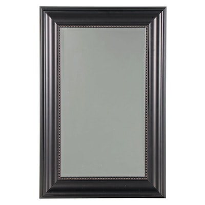 Eboinzed Wood Rectangular Wall Mirror, 21st Century