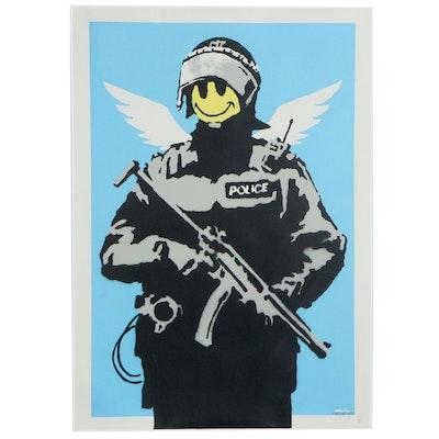"""Giclée after Banksy """"Smiley Police Trooper"""""""