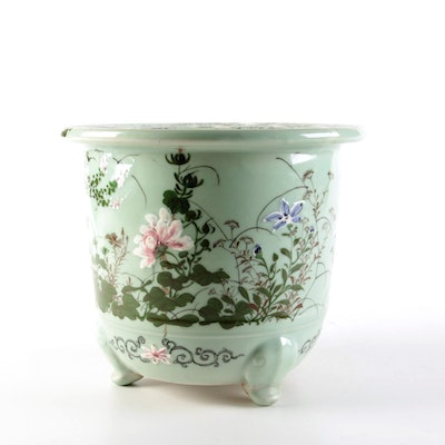 Chinese Floral Decorated Jardiniere