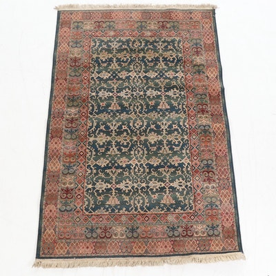 4'11 x 7'10 Machine Made Turkish Oushak Lotto Style Area Rug